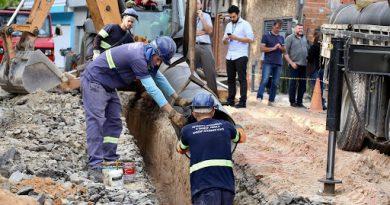 Obras de abastecimento em Guarulhos visam diminuir perdas e ampliar oferta de água e esgoto canalizado