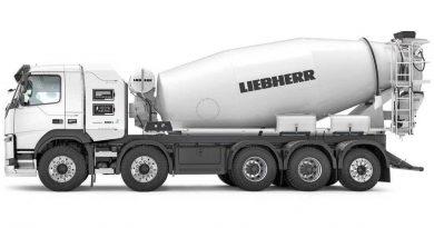 Liebherr apresenta o primeiro caminhão betoneira elétrico do mundo