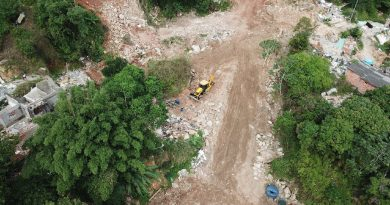 Começam as obras de contenção no Morro da Bela Vista